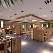 大型日式餐厅装饰图
