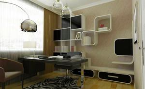 2016前卫三室一厅书房装修设计效果图