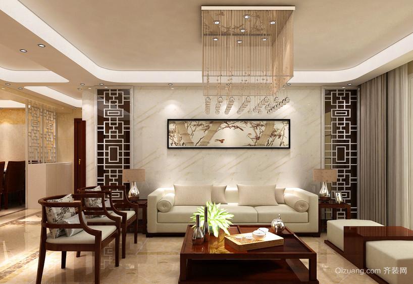 120平米大户型中西混搭装修风格客厅效果图欣赏