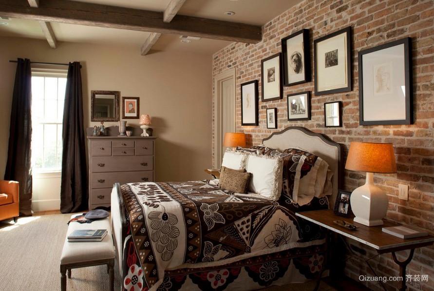 简约美式风格19平米卧室装修样板房