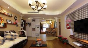混搭风格80平米客厅室内设计效果图大全