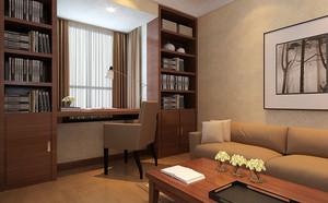 朴素温暖17平米小书房装修设计效果图