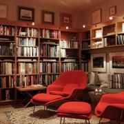 中式书房简约背景墙装饰