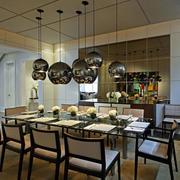 120平米后现代风格精致餐厅集成吊顶装饰