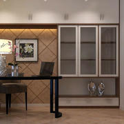 老人专属:简约中式书房装修设计效果图