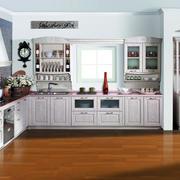 欧式风格厨房原木地板装饰