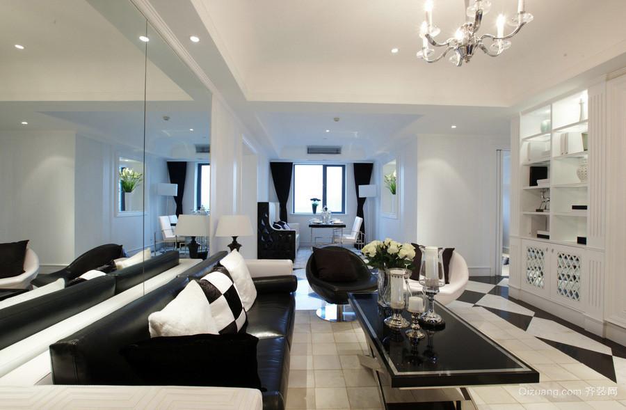 90平米男士公寓客厅室内设计效果图大全