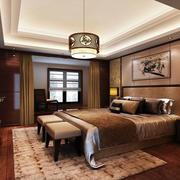 复式楼卧室床头柜式装饰