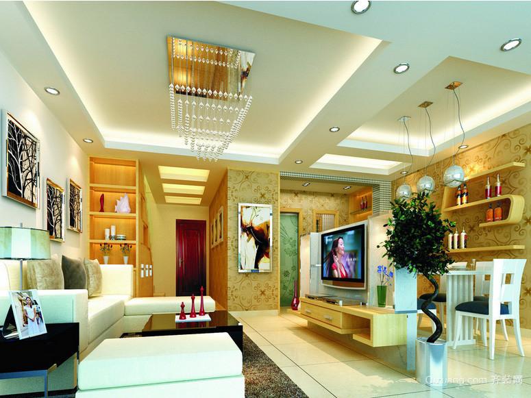 温馨现代三居室家居客厅室内设计效果图
