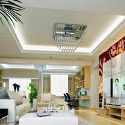 现代146平米室内电视背景墙设计效果图