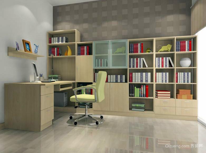 现代简约90平米家居书房装修设计效果图