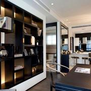 后现代大户型书房壁柜设计效果图大全