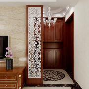 美式豪华三居室玄关设计装修效果图