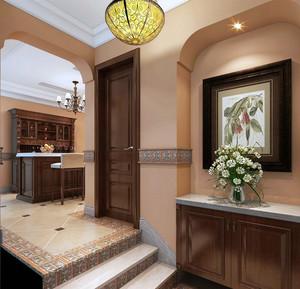 简约美式家居玄关设计装修效果图