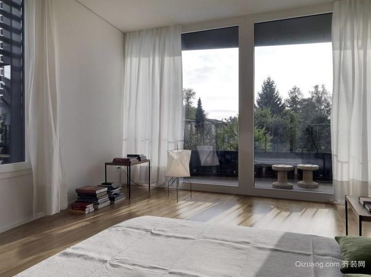 三居室时尚风格落地隔音玻璃窗装修效果图