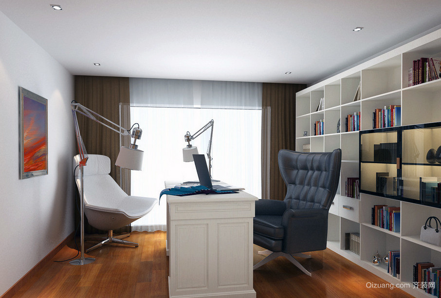 2016简欧小空间书房装修设计效果图