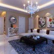单身公寓简约风格地毯效果图片