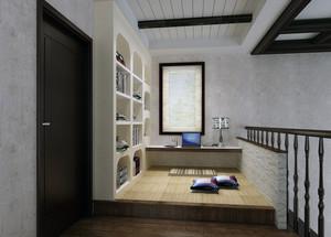韩式迷你小清新书房装修设计效果图
