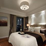 现代美式风格两室一厅卧室装修样板房