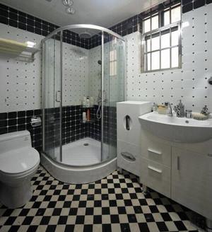 复式楼清新风格洗手间装修效果图