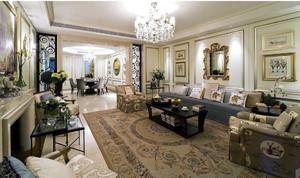 大户型别墅美式风格客厅装修样板房