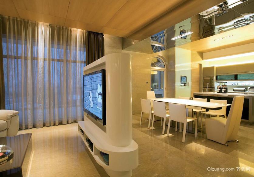 都市后现代公寓客厅电视柜室内设计图