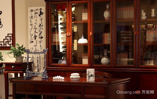 大型别墅40平米中式风格书房装修效果图