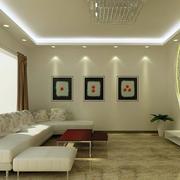 现代简约风格农村客厅背景墙装饰