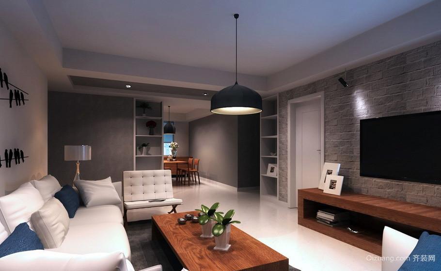 简约现代60平米室内客厅设计效果图大全