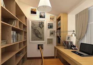 原木风阁楼小书房装修设计效果图