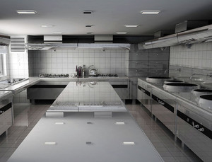 大型酒店后现代风格厨房装修效果图