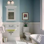 三居室清爽系列洗手间装修效果图