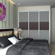 灰色系卧室装修效果图