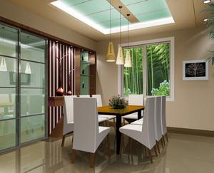 两室一厅现代简约风格餐厅集成吊顶装修效果图