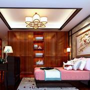 新中式复古卧室室内装修设计效果图大全