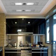 深色系厨房悬挂柜装饰