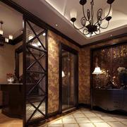 美式风格400平米别墅玄关装修样板房
