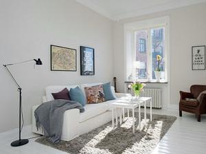 120平米纯白色调地毯效果图片