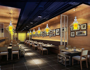 100平米后现代风格餐厅装修效果图