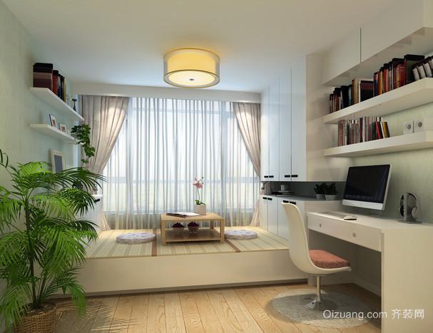 小户型现代简约风格书房榻榻米装修效果图