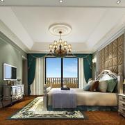 典雅欧式30平卧室吊顶装修设计效果图