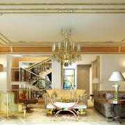 豪华欧式复式楼大客厅设计效果图大全