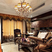 复古欧式150平米客厅室内装修设计效果图