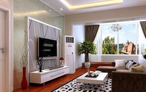 现代简约风格客厅窗户装饰