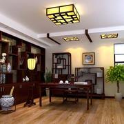 古韵中式大户型家居书房装修设计效果图