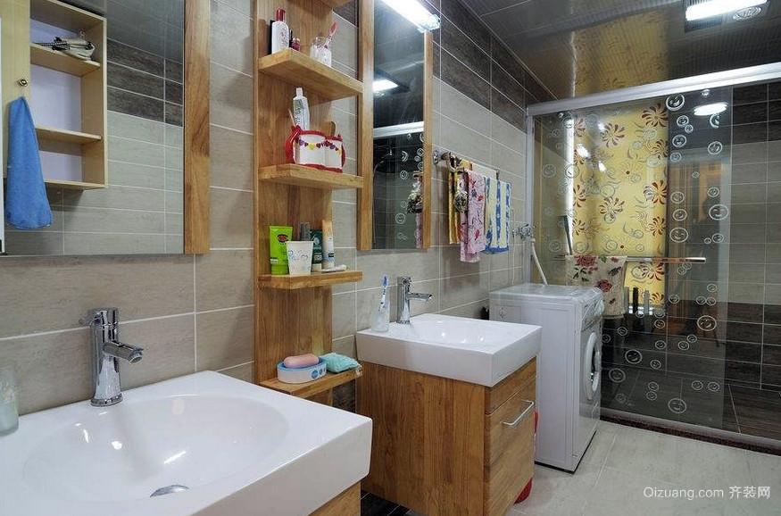 118平米深色调洗手间装修效果图