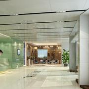 清新大方办公楼前台装饰