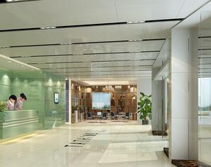 大型现代简约风格办公楼装修效果图