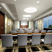 自然风格会议室效果图