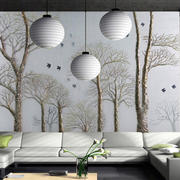 白色调玻璃背景墙
